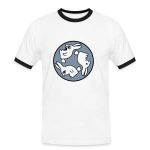 bunny circle - Mannen contrastshirt