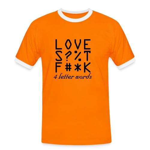 4 letter words - Mannen contrastshirt