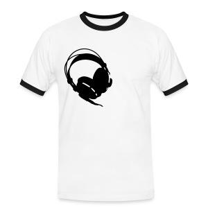 headphone - Mannen contrastshirt