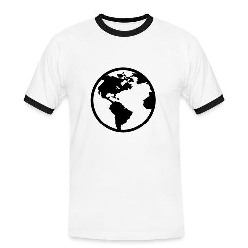 earth - Mannen contrastshirt