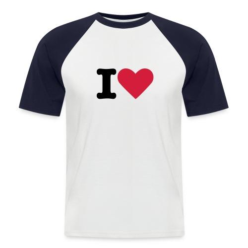 I Love.... - Kortærmet herre-baseballshirt