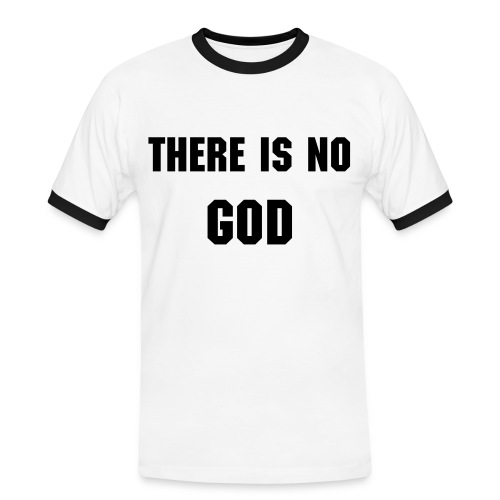 There is no god - Miesten kontrastipaita