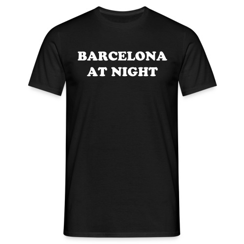 Barcelona at night - Men's T-Shirt