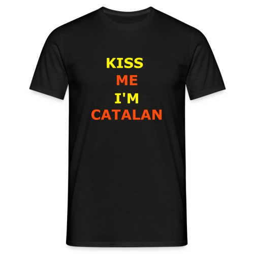 Kiss me, I'm Catalan - Men's T-Shirt