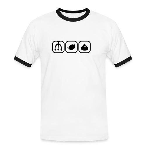 Rock Is Dead T-shirt( Hcradio.nl) - Mannen contrastshirt