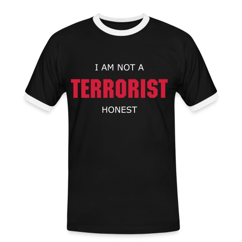 Not a Terrorist - Contrast - Men's Ringer Shirt