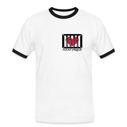 t-shirt, herre - Kontrast-T-skjorte for menn