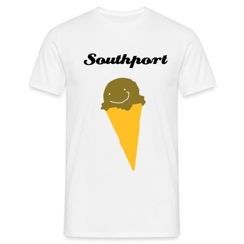 Southport Ice Cream! White - Men's T-Shirt