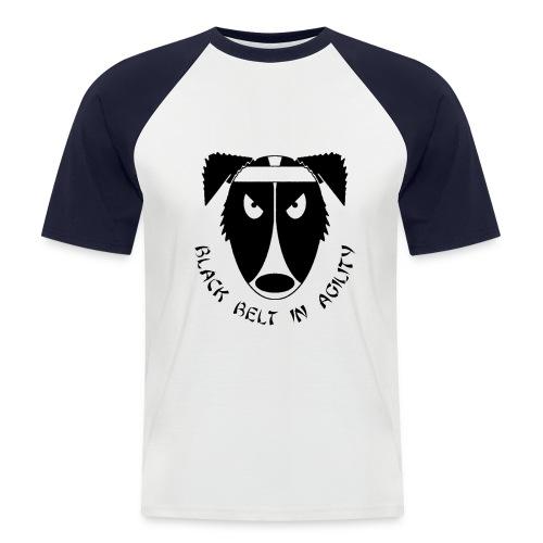 Black Belt In Agility - Retro Tee - Men's Baseball T-Shirt