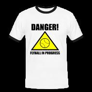 T-Shirts ~ Men's Ringer Shirt ~ Flyball In Progress - White Tee