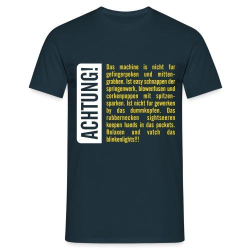 Achtung! Gefingerpocken - Männer T-Shirt