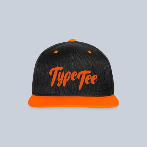 TypeTee Cap - Contrast snapback cap