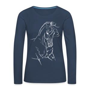 Iberer im Vintage Look - Frauen Premium Langarmshirt