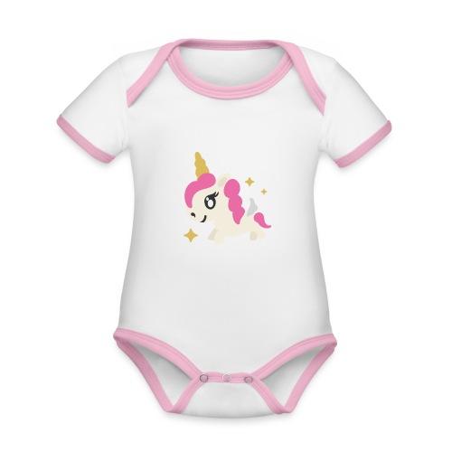 PLC Organic Baby Contrasting Bodysuit for girls - Organic Baby Contrasting Bodysuit