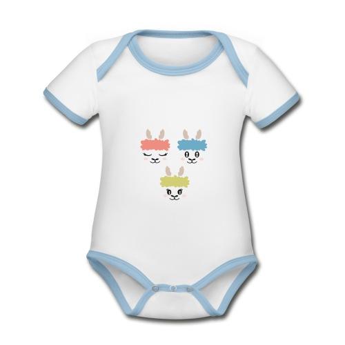 PLC Organic Baby Contrasting Bodysuit for boys - Organic Baby Contrasting Bodysuit