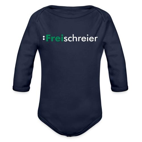 Der Freischreier-Body - Baby Bio-Langarm-Body