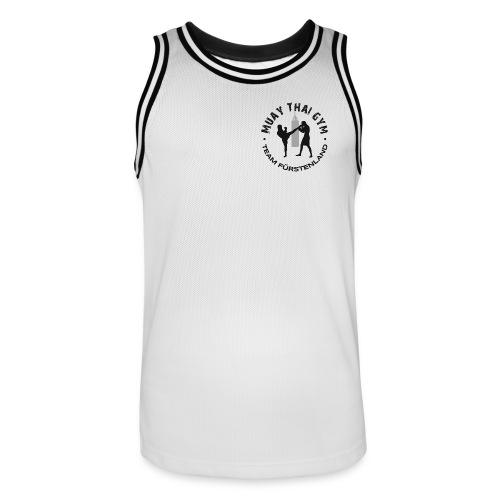 Tank Top weiss/schwarz - Männer Basketball-Trikot