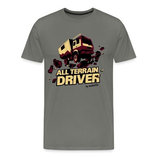 4Wheel24 - All Terrain Driver Sand-Bordeaux - T-Shirt Männer - Männer Premium T-Shirt