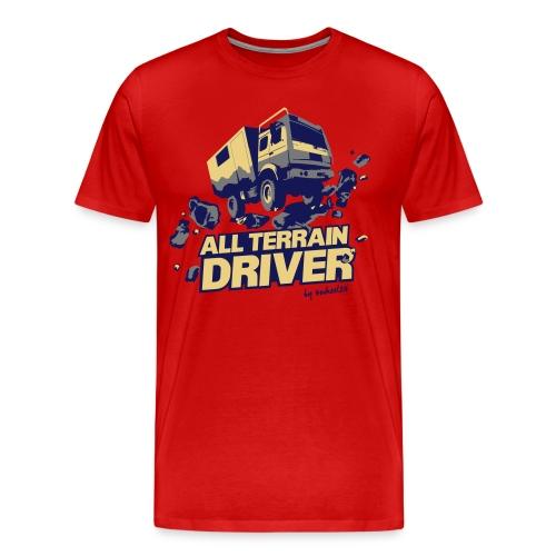 4Wheel24 - All Terrain Driver Contrast-Red - T-Shirt Männer - Männer Premium T-Shirt