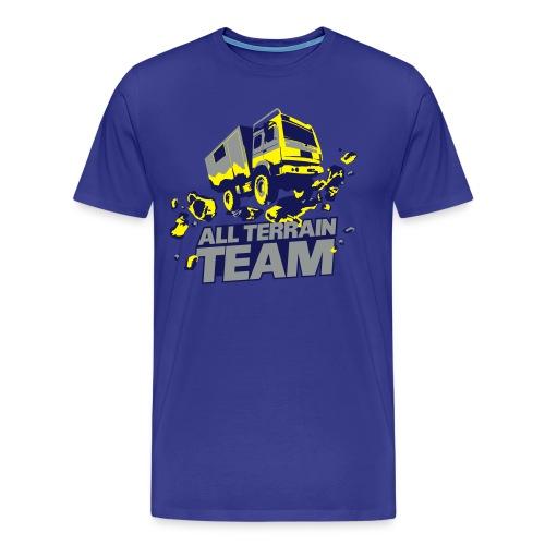 4Wheel24 - All Terrain Team Blue R2R- T-Shirt Männer - Männer Premium T-Shirt
