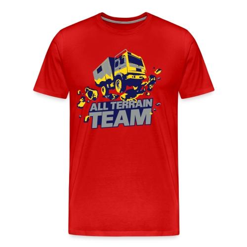 4Wheel24 - All Terrain Team Red R2R- T-Shirt Männer - Männer Premium T-Shirt