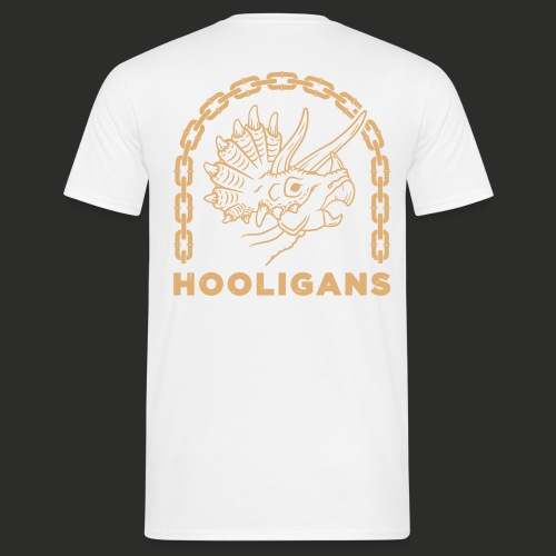 TRICERATOPS WHT SAND - Men's T-Shirt