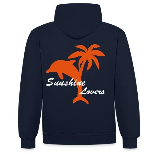 Florida Inside - Sunshine Lovers - Kontrast-Hoodie
