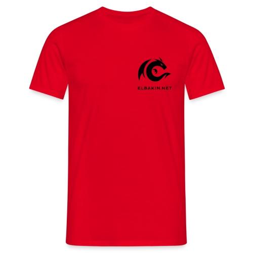 T-shirt homme classique rouge logo noir - T-shirt Homme