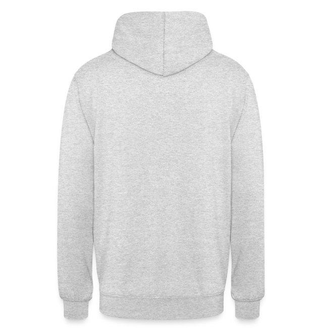 Sweat capuche blanc logo bicolore