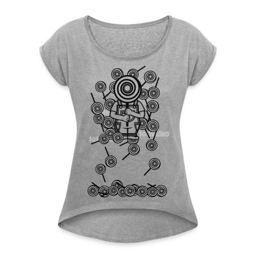 Lolly Rain - Frauen T-Shirt mit gerollten Ärmeln