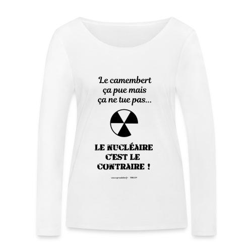 Antinucléaire2 Texte noir - T-shirt manches longues bio Stanley & Stella Femme