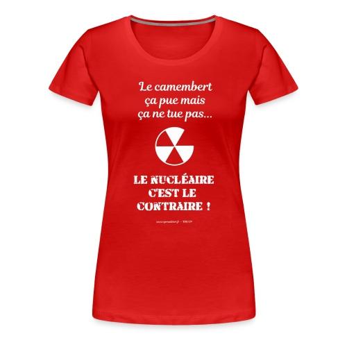 Antinucléaire2 Texte noir - T-shirt Premium Femme