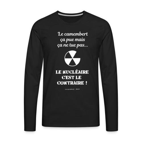 Antinucléaire2 Texte blanc - T-shirt manches longues Premium Homme