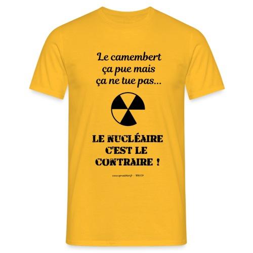 Antinucléaire2 Texte noir - T-shirt Homme