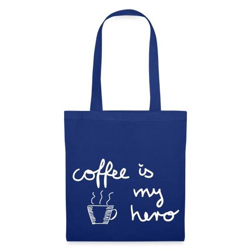Stoffbeutel: coffee is my hero - Stoffbeutel
