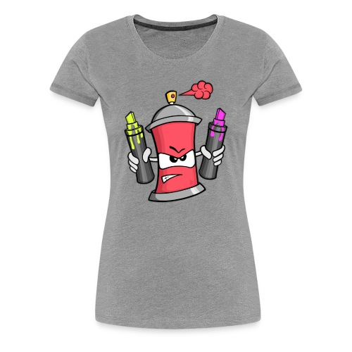 Graffiti Spray Can (rot) - Frauen Premium T-Shirt