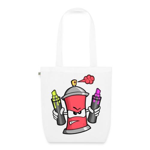Graffiti Spray Can (rot) - Bio-Stoffbeutel