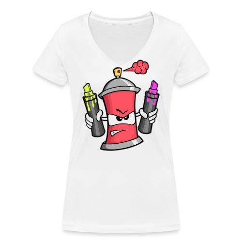 Graffiti Spray Can (rot) - Frauen Bio-T-Shirt mit V-Ausschnitt von Stanley & Stella