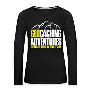 Geocaching Adventures (Female) - Vrouwen Premium shirt met lange mouwen