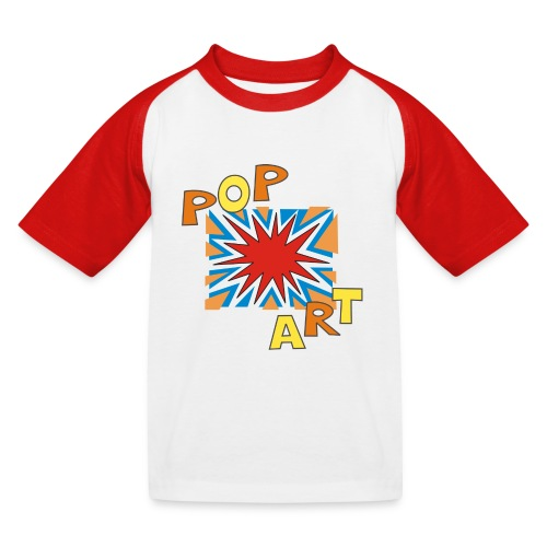pop art - Maglietta da baseball per bambini