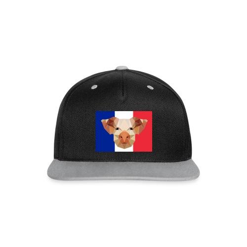 Cochon France - Casquette Snapback contrastée