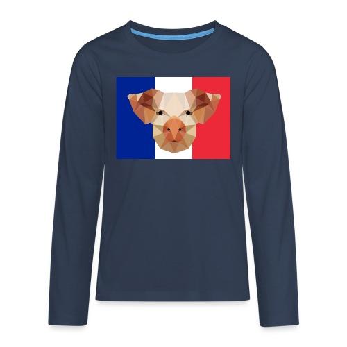 Cochon France - T-shirt manches longues Premium Ado