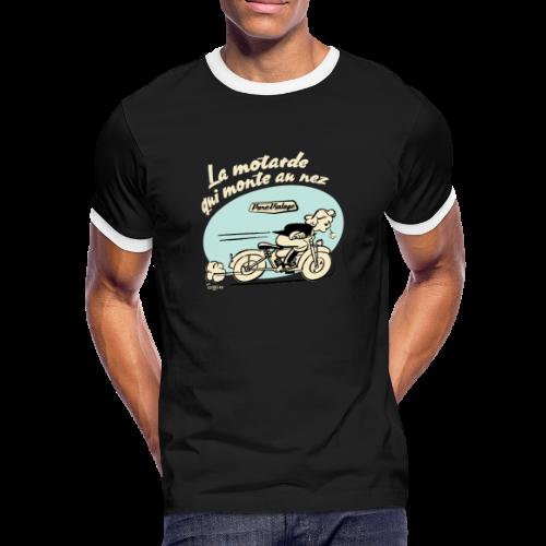 La motarde qui monte au nez - T-shirt contrasté Homme