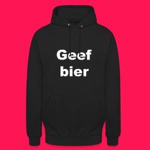 Unisex hoodie 'Geef bier' - Hoodie unisex
