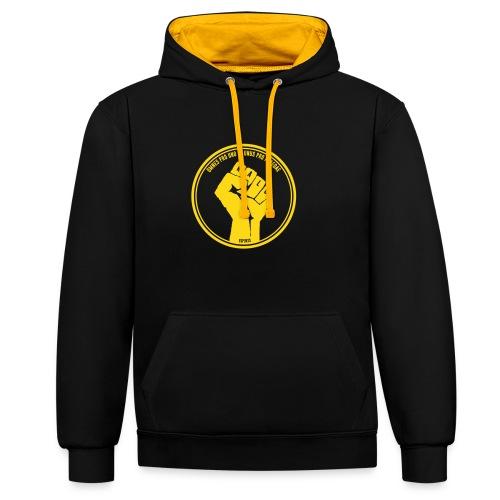 Kalu two color hoodie - Contrast Colour Hoodie