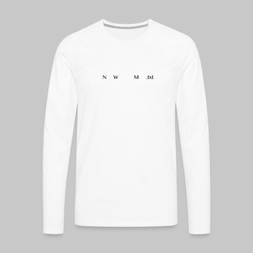 NWM_dot_txt_02_03_2018 - Men's Premium Longsleeve Shirt