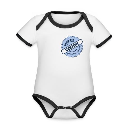 bébé bio - Body Bébé bio contrasté manches courtes