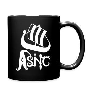 White ship logo black mug - Full Colour Mug