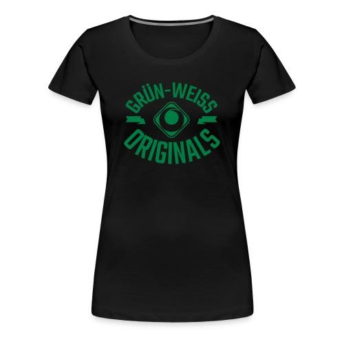 SV Grün-Weiss Harburg ORIGINALS Premium Shirt - Frauen Schwarz - Frauen Premium T-Shirt