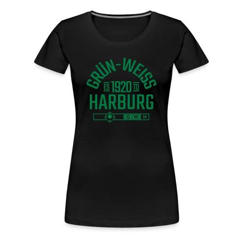 SV Grün-Weiss Harburg ESTD. Premium Shirt - Frauen Schwarz - Frauen Premium T-Shirt